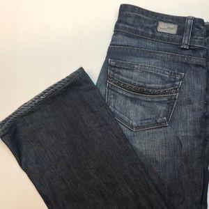 Women's Paige premium denim bootcut jeans, size 28